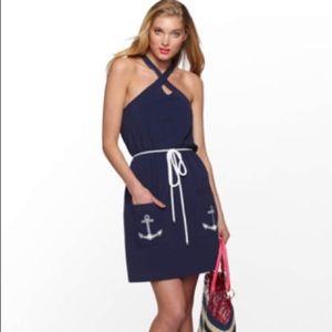 Lilly Pulitzer Navy Anchor Leslee Dress